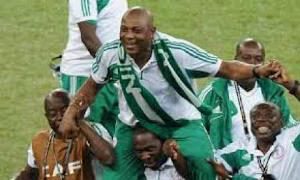 Keshi, celebrating the AFCON win