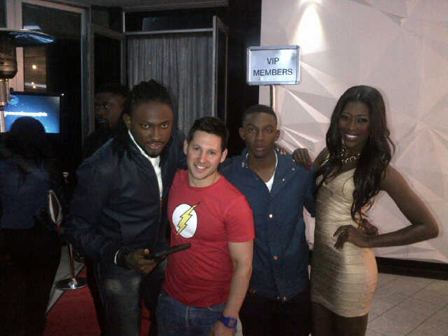 L-R; Uti Nwachukwu, Simon (Director), Lawrence and Vimbai